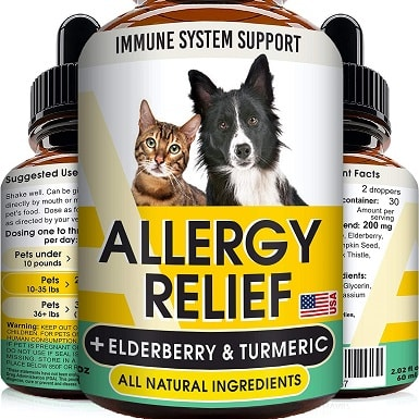 9GOODGROWLIES Allergy Relief Drops for Cats and Dogs