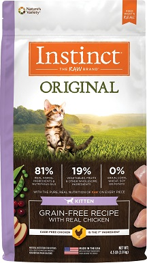 9Instinct Original Kitten Grain-Free Recipe with Real Chicken Freeze-Dried Raw Coated Dry Cat Food