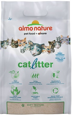 Almo Nature Unscented Clumping Grass Cat Litter