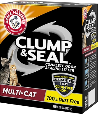 Arm & Hammer Clump & Seal Multi-Cat Clay Cat Litter