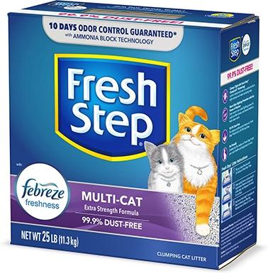 Fresh Step Multi-Cat Clay Cat Litter