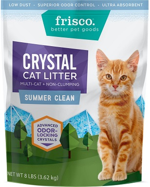 Frisco Summer Clean Scented Non-clumping Crystal Cat Litter
