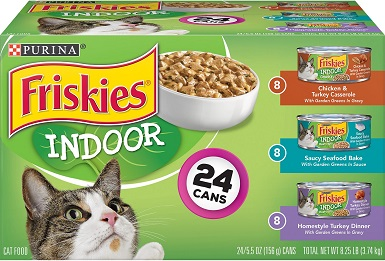 Friskies Indoor Variety Pack Canned Wet Food