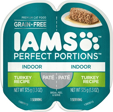 Iams Perfect Portions Indoor Turkey Recipe Pate Wet Food