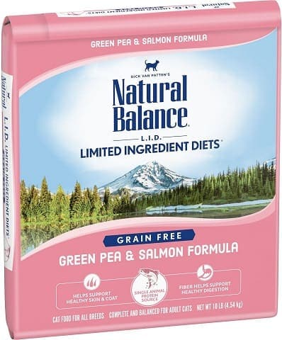 Natural Balance L.I.D. Limited Ingredient Diets Green Pea & Salmon Formula Grain-Free Dry Cat Food