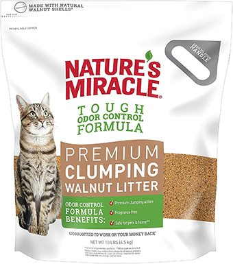 Nature's Miracle Walnut Clumping Litter
