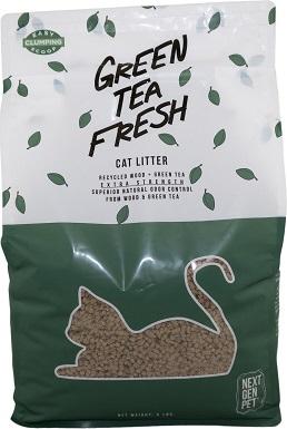 Next Gen Pet Unscented Green Tea Clumping Wood Cat Litter