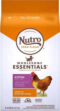 Nutro Wholesome Essentials Chicken & Brown Rice Recipe Kitten
