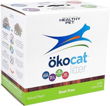 Okocat Natural Unscented Non-clumping Paper Cat Litter