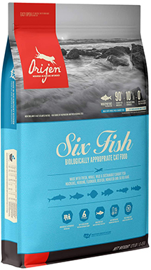 Orijen High-Protein, Grain-Free Six Fish Dry Cat Food