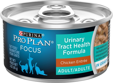 Purina Pro Plan Focus Adult Urinary Tract Health Formula Chicken Entree in Gravy Canned Cat Food