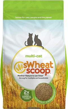 sWheat Scoop Unscented Clumping Wheat Cat Litter