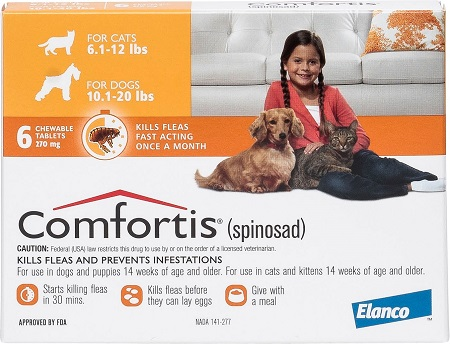 1Comfortis Chewable Tablets for Dogs
