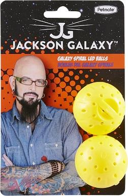 6Jackson Galaxy Spiral Galaxy LED Balls Cat Toy