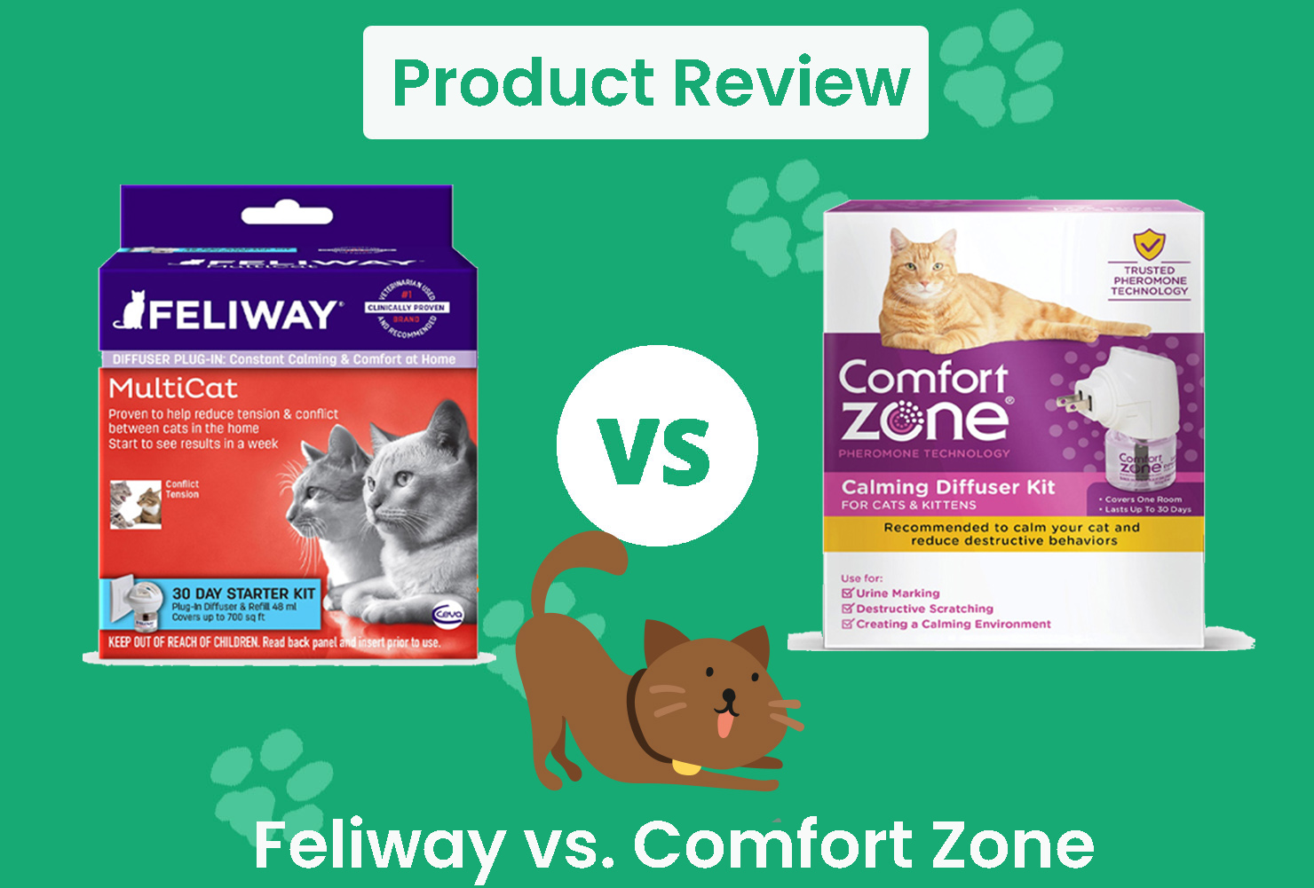 feliway vs. comfort zone