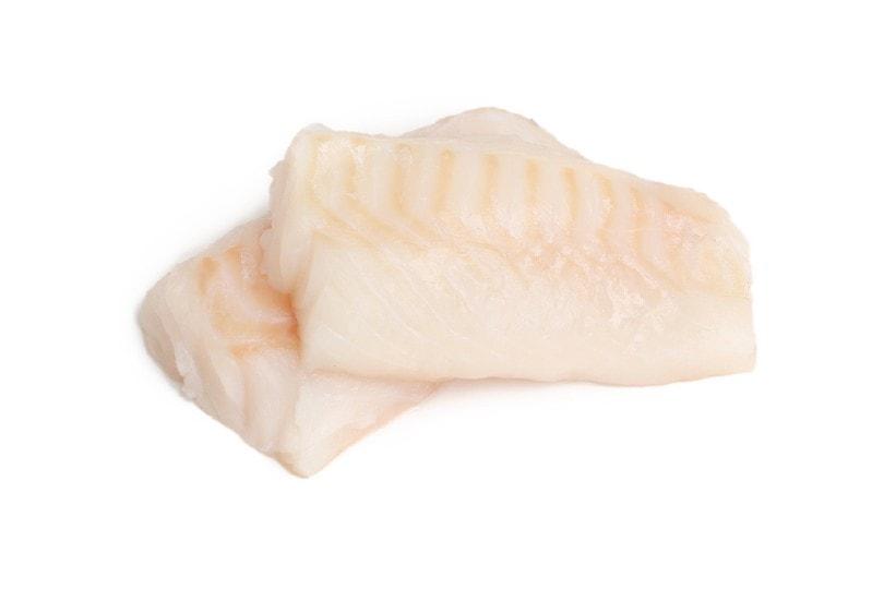 two a piece raw cod