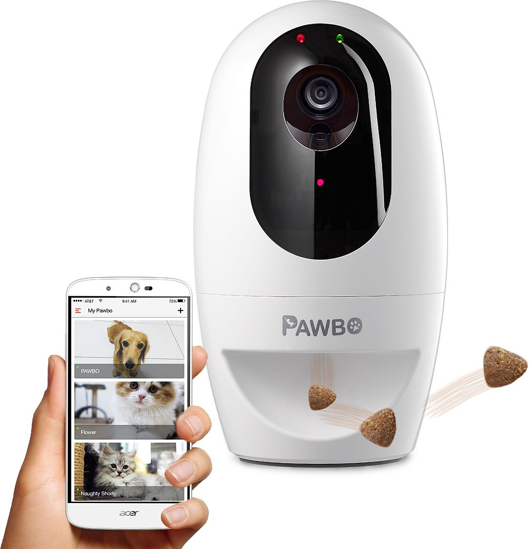 Pawbo+ Wi-Fi Interactive Pet Camera and Treat Dispenser