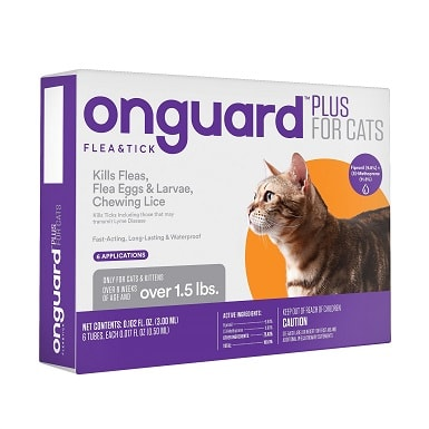 5Onguard Plus Flea & Tick Spot Treatment for Cats