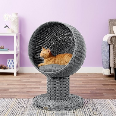 5The Refined Feline Kitty Ball Cat Bed