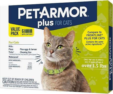 7PetArmor Plus Flea & Tick Spot Treatment for Cats