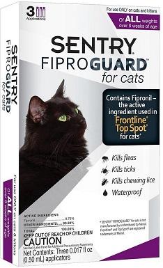 9Sentry FiproGuard Flea & Tick Spot Treatment for Cats