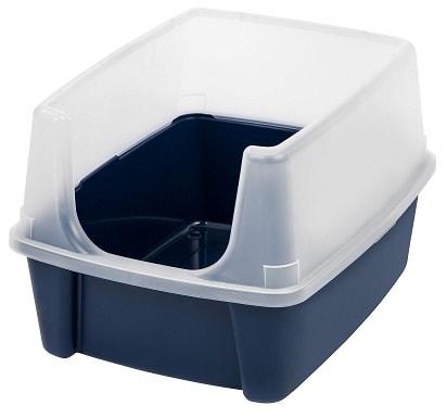 IRIS Open Top Litter Box with Shield