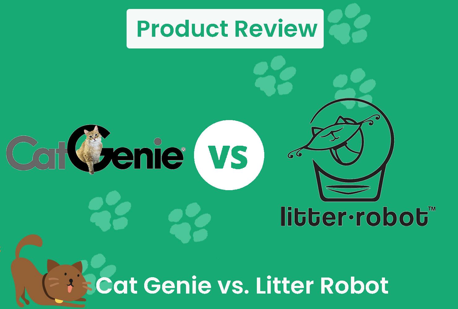 cat genie vs litter robot