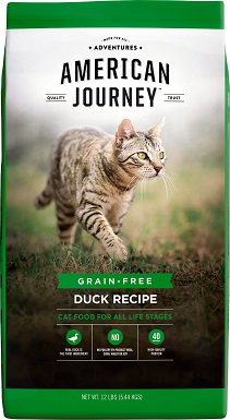1American Journey Duck Recipe Grain-Free Dry Cat Food