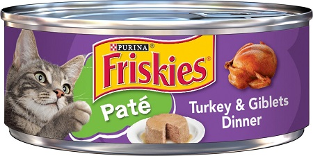 1Friskies Classic Pate Turkey & Giblets Dinner Canned Cat Food