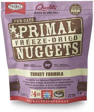 1Primal Pet Foods Freeze-Dried Feline Turkey Formula