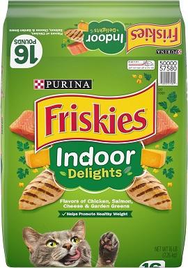 2Friskies Indoor Delights Dry Cat Food