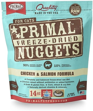 2Primal Pet Foods Freeze-Dried Feline Chicken And Salmon Formula