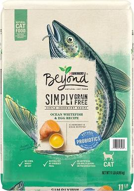 2Purina Beyond Simply Grain-Free Ocean Whitefish & Egg Recipe Dry Cat Food