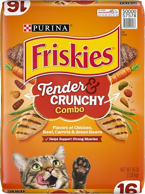 3Friskies Tender & Crunchy Combo Dry Cat Food