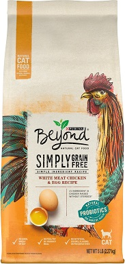 3Purina Beyond Simply White Meat Chicken & Egg Recipe Grain-Free Dry Cat Food