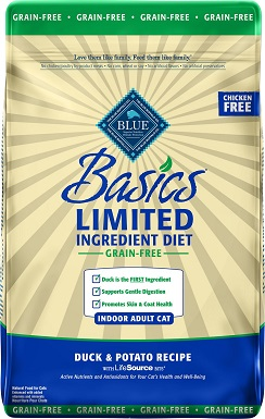 4Blue Buffalo Basics Limited Ingredient Grain-Free Formula Duck & Potato Indoor Adult Dry Cat Food