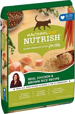 6Rachael Ray Nutrish Natural Chicken & Brown Rice Recipe Dry Cat Food