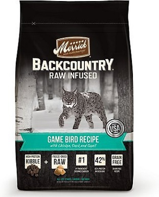 7Merrick Backcountry Raw Infused Game Bird Recipe with Chicken