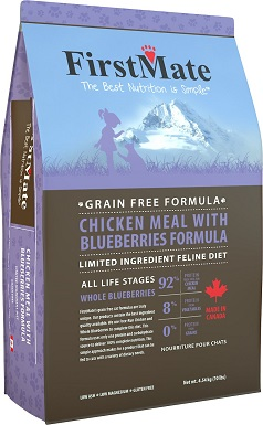 8FirstMate Chicken Meal with Blueberries Formula Limited Ingredient Diet Grain-Free Dry Cat Food