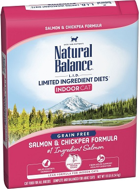 9Natural Balance L.I.D. Limited Ingredient Diets Indoor Grain-Free Salmon & Chickpea Formula Dry Cat Food