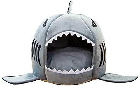 Easy Store Cat Shark Bed