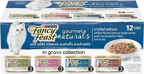 Fancy Feast Gourmet Naturals in Gravy Variety Pack Canned Cat Food