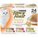Fancy Feast Poultry & Beef Classic Pâté Variety Pack Canned Cat Food