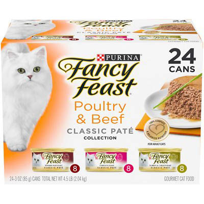 Fancy Feast Poultry & Beef Classic Pate Variety Pack Canned Cat Food