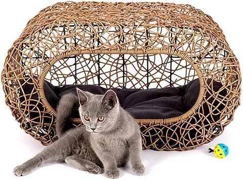 Fun Stackable Wicker Cat Bed