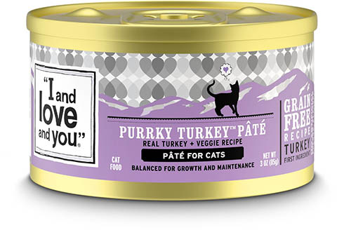 I and Love and You Purrky Turkey Pate Grain-Free Canned Cat Food