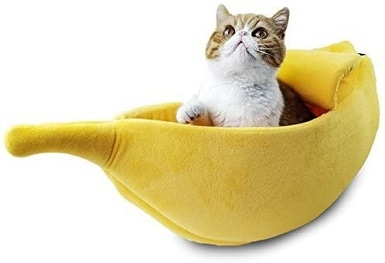 Petgrow Cute Banana Cat Bed