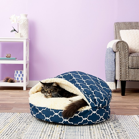 Snoozer Pet Products Cozy Cave Covered Cat & Dog Bed w:Removable Cover