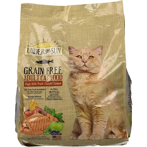 Under the Sun Grain Free Adult Dry Cat Food Fresh Caught Salmon