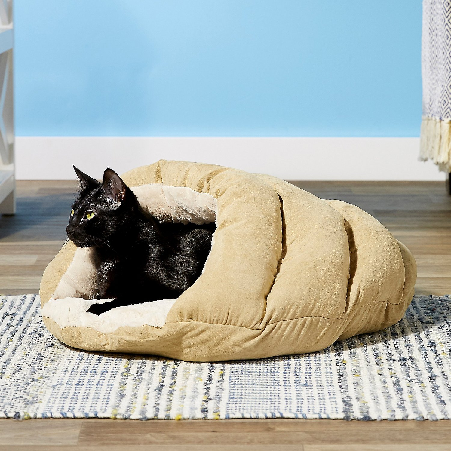 cat in Ethical Pet Sleep Zone Cuddle Cave Cat & Dog Bed